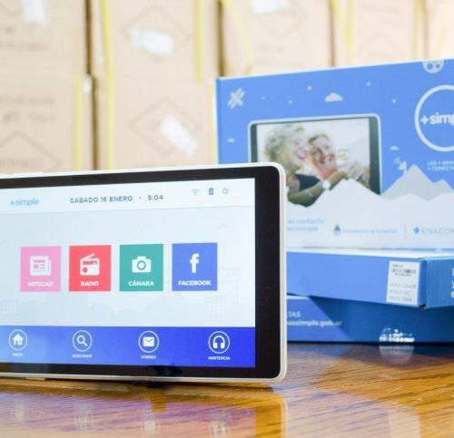 Tablets que reciben los jubilados de ANSES